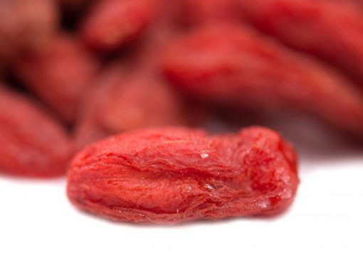 Dried Goji Berries (Wolfberry) - No Added Sugar Close up