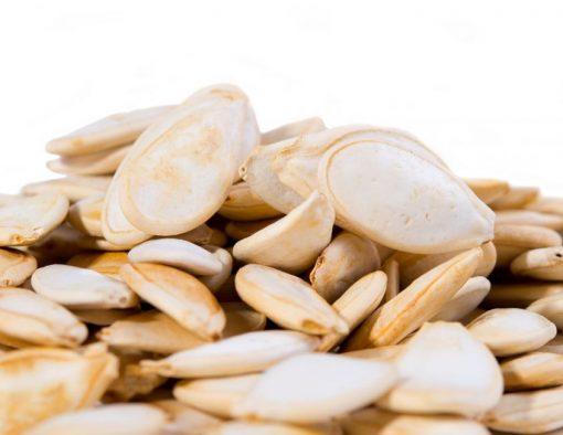 Lightly Sea Salted Dry Roasted In Shell Pumpkin Seeds - Whole Pepitas Close up