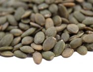 Lightly Sea Salted Dry Roasted Pumpkin Seed Kernels - Shelled Pepitas Close up