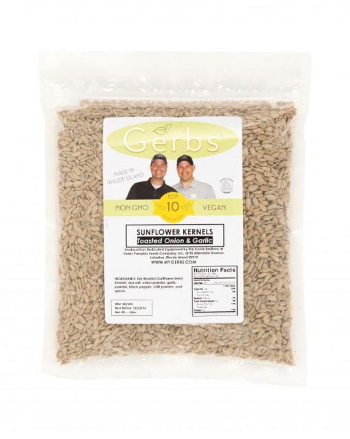Toasted Onion & Garlic Sunflower Seed Kernels - Dry Roasted Bag