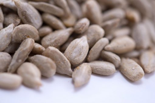 Toasted Onion & Garlic Sunflower Seed Kernels - Dry Roasted Close up