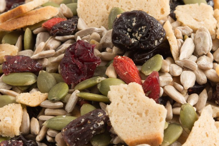 Bagel Berry Crunch Snack Mix close up