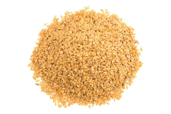 Raw Golden Flax Seeds top view