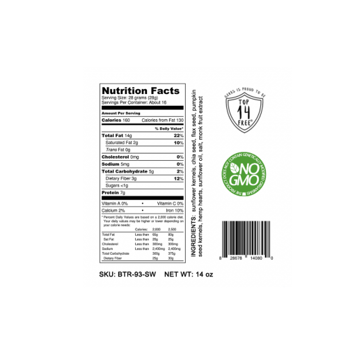 LIGHT SALT SUPER 5 SEED BUTTER Nutrition Facts