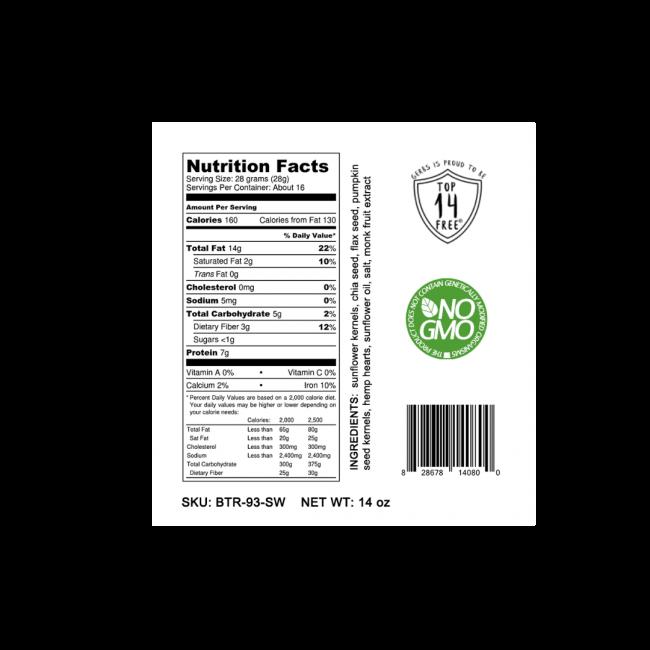 LIGHT SALT SUPER 5 SEED BUTTER Nutrition Facts