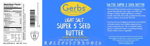 LIGHT SALT SUPER 5 SEED BUTTER detail