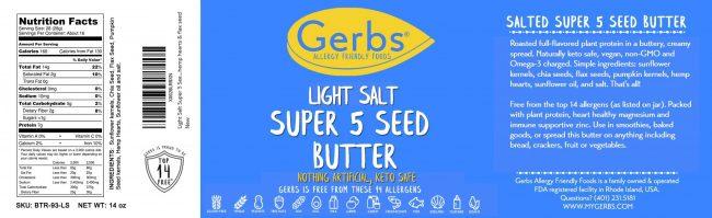 LIGHT SALT SUPER 5 SEED BUTTER detail