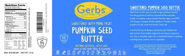 SWEETENED (MONK FRUIT) PUMPKIN SEED BUTTER detail