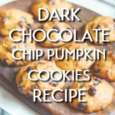 dark chocolate chip pumpkin cookie recipe