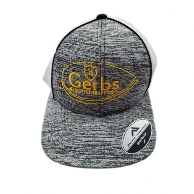 Gerbs Heather Trucker Snapback Hat (YELLOW)