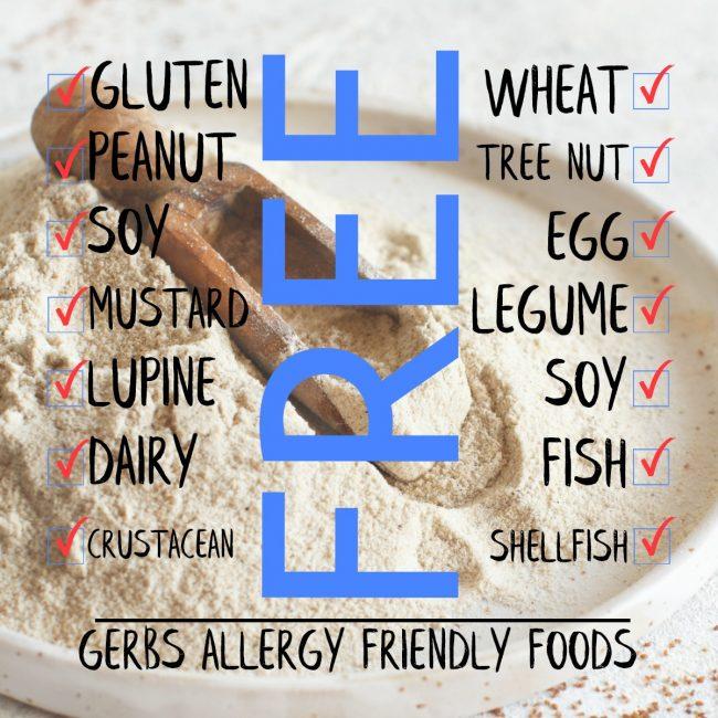 GERBS BROWN TEFF FLOUR nutrition information