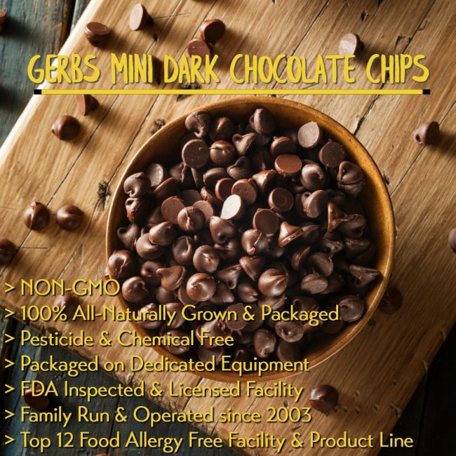 Dark Chocolate Chips – Miniatures (Semi Sweet Cacao) All Natural