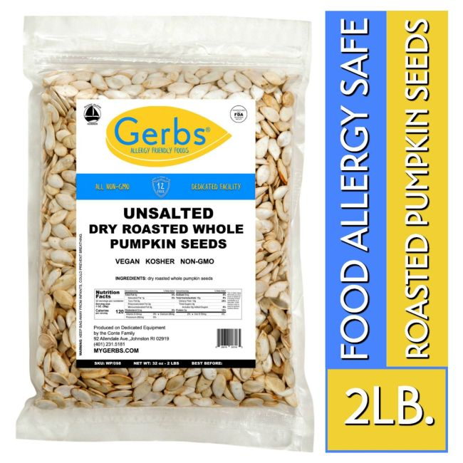 Unsalted Dry Roasted In Shell Pumpkin Seeds - Whole Pepitas