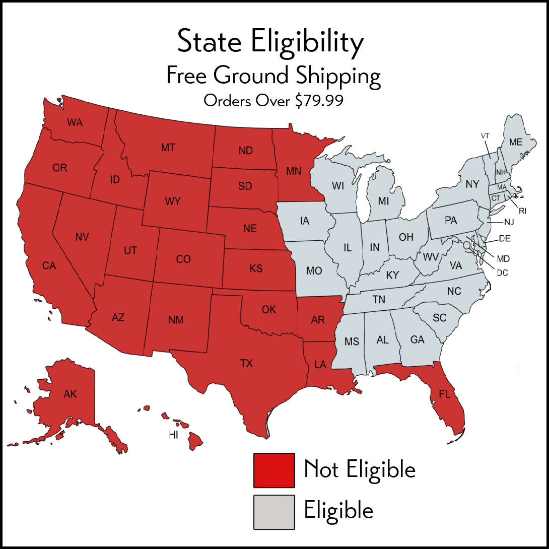 Eligible Free Shipping States