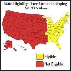 Free Shipping States